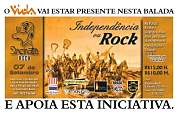 Flyer Sincinato Rock - Independência ou Rock